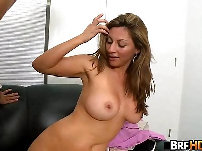 Big tits MILF latina first time facial 1.5