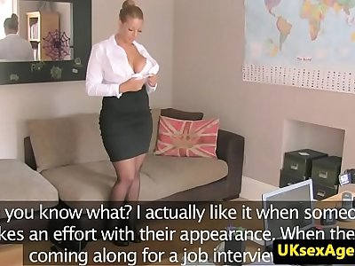 Busty UK milf fucked deeply by casting agent