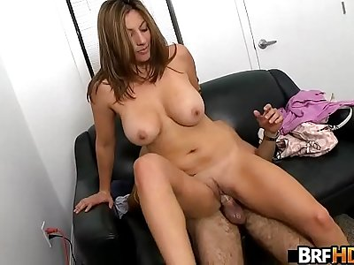 Big tits MILF latina first time facial.5