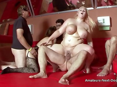Group sex with 2 overweight housewives