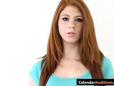 Cute Amateur Redhead Teen At Casting
