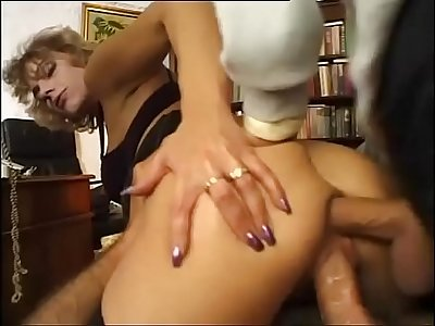 A cock in the pussy and a cock in the ass for this slut! Vol. 5