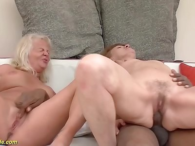big cock anal interracial for two grannies