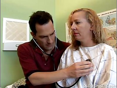 Naughty MILF patient fucks the doctor