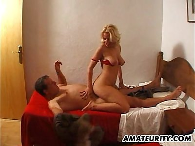 Busty amateur Milf getting fucked with cumshot