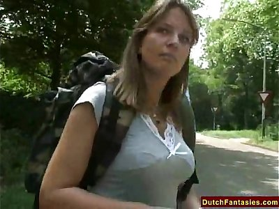 Fucking A Dutch MILF In Holland Park