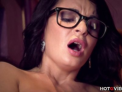 Glasses MILF Squirts So Much!